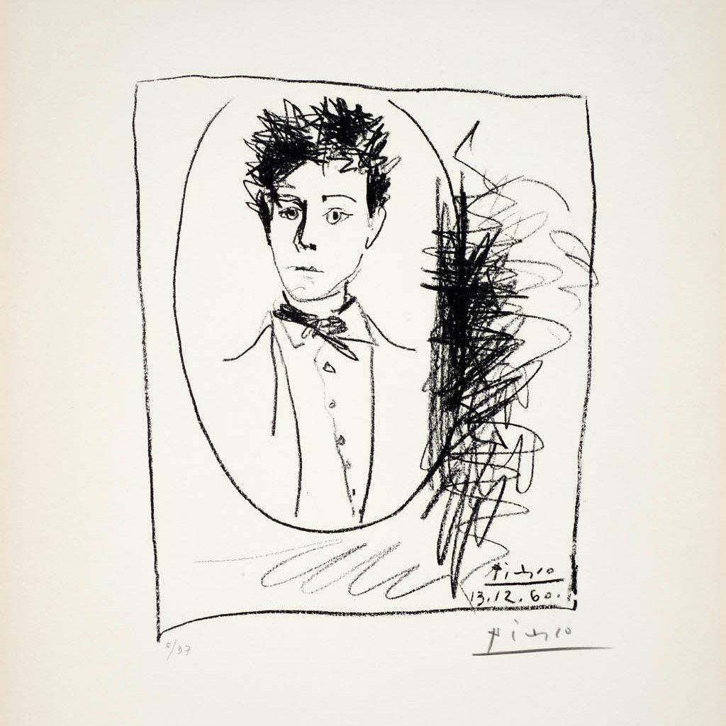 Picasso, Ritratto di Arthur Rimbaud