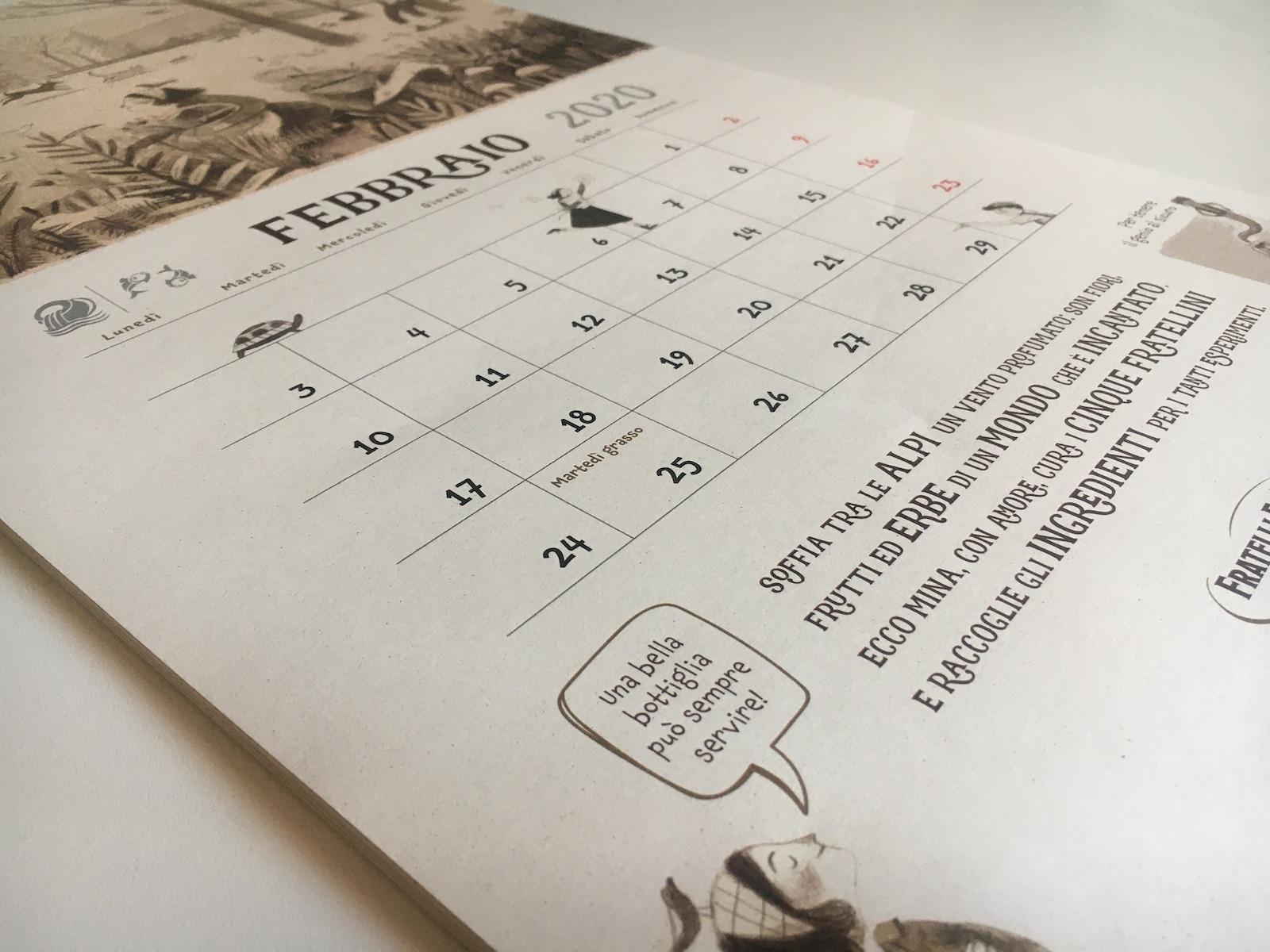Le Ricette della Zia Mina - Calendario - Soffia il vento tra le Alpi