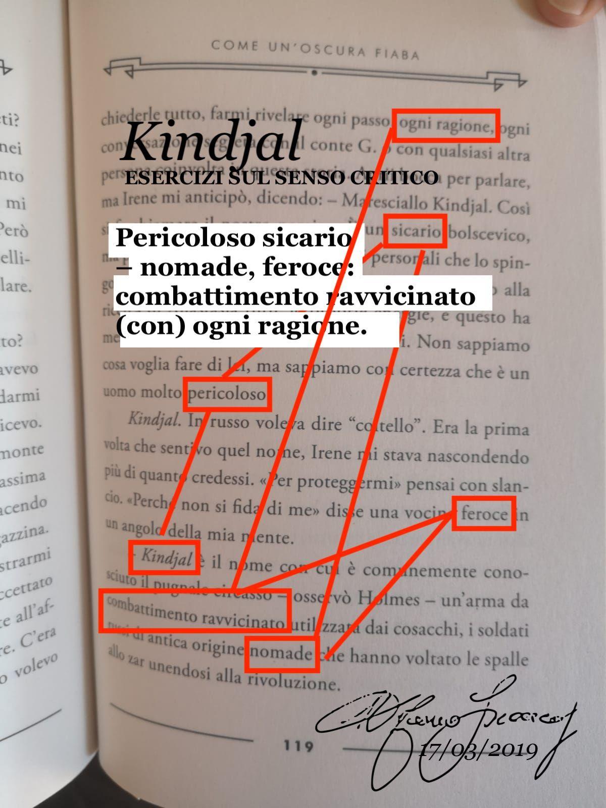 Stefano Francoli, Kindjal - Esercizi sul senso critico, 2020