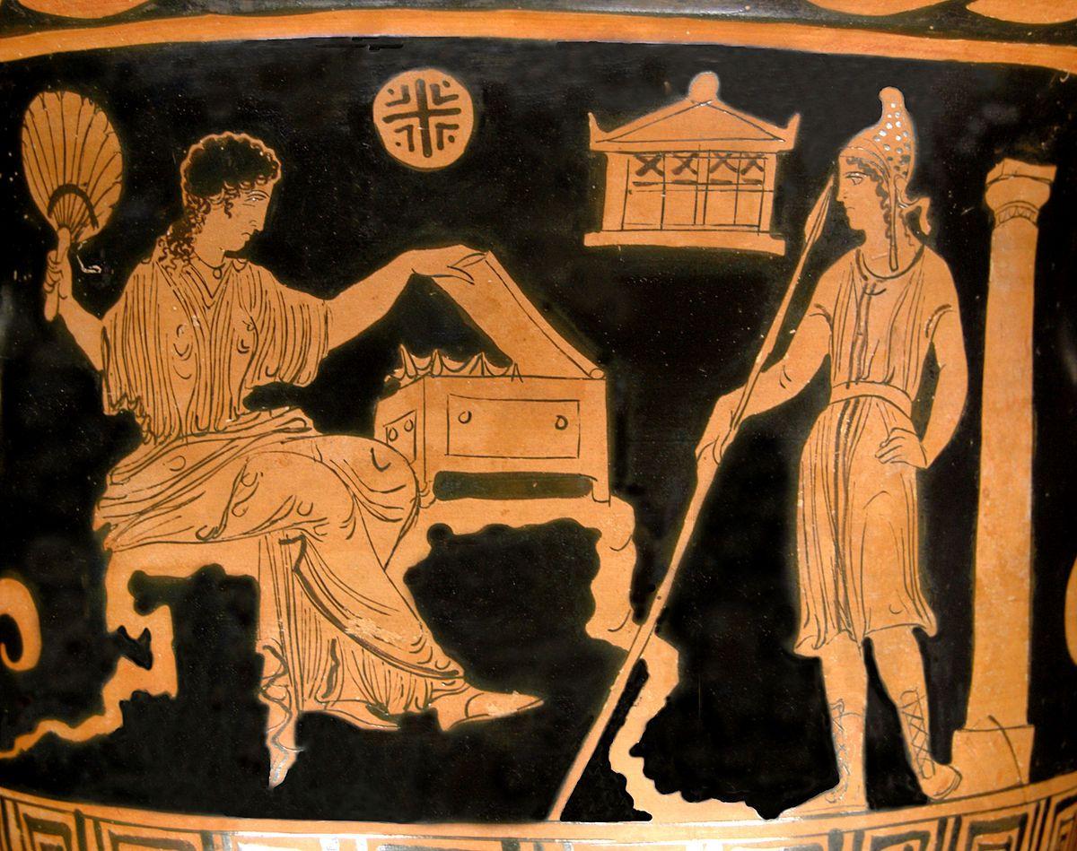 Elena e Paride, Vaso, 380-370 a.C.