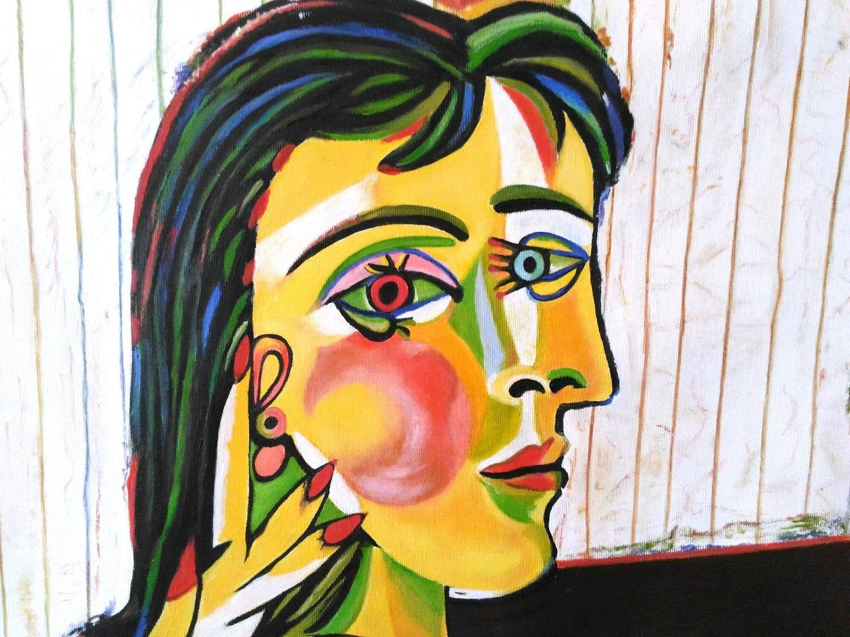 Pablo Picasso, Ritratto di Dora Maar (particolare), 1937